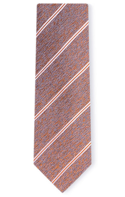 OWEN ORANGE STRIPE TIE