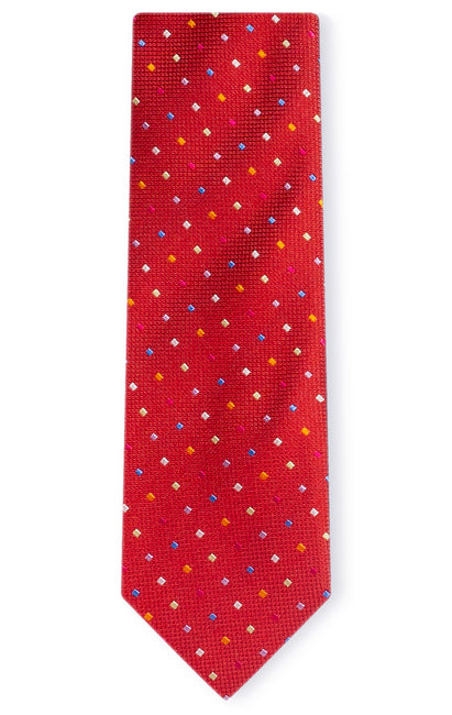 JOHN RED DOT TIE