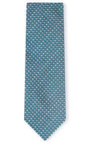 ASHER TEAL GEO TIE
