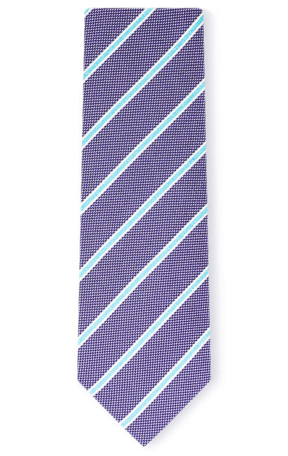 WILLIAM PURPLE STRIPE TIE