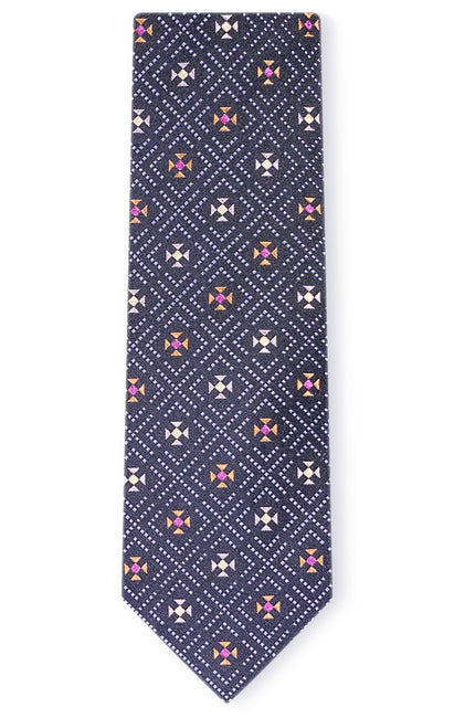 HARVEY PURPLE GEO TIE