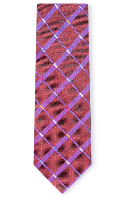 ETHAN RED STRIPE TIE