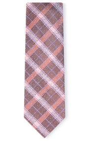 HENDRIK RUST PLAID TIE