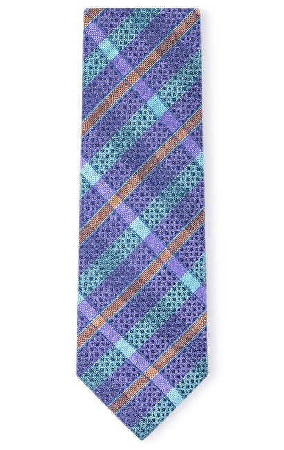 NATHAN PURPLE STRIPE TIE