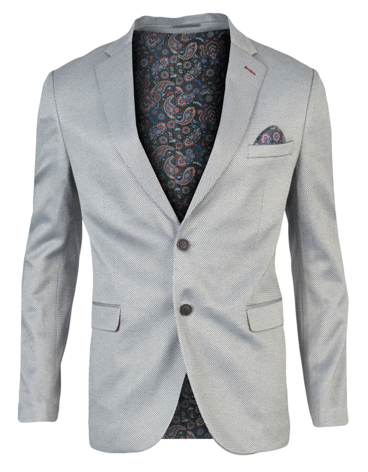 SPAZIO WHITE BLACK SLIM FIT SPORTCOAT