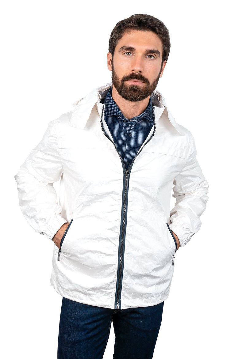 CRIS WHITE ZIP JACKET