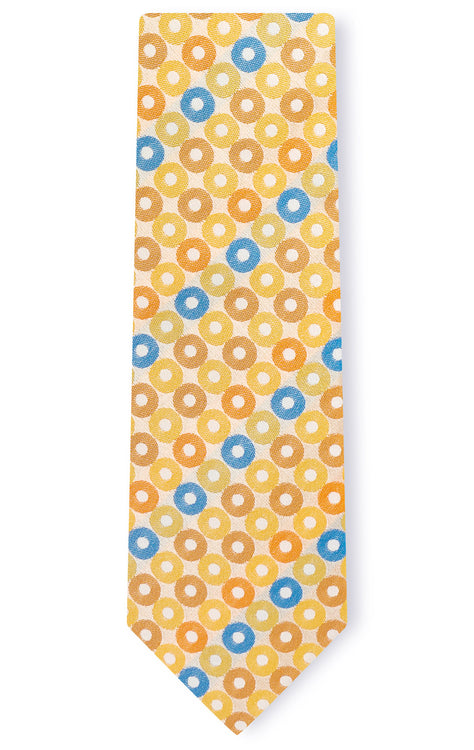 LIAM ORANGE DOT TIE