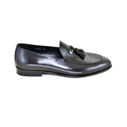 BLACK LEATHER LOAFERS