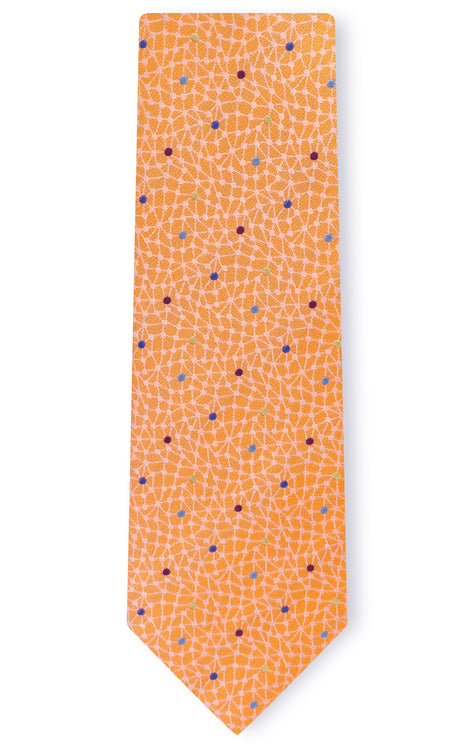 WILLIAM ORANGE DOT TIE
