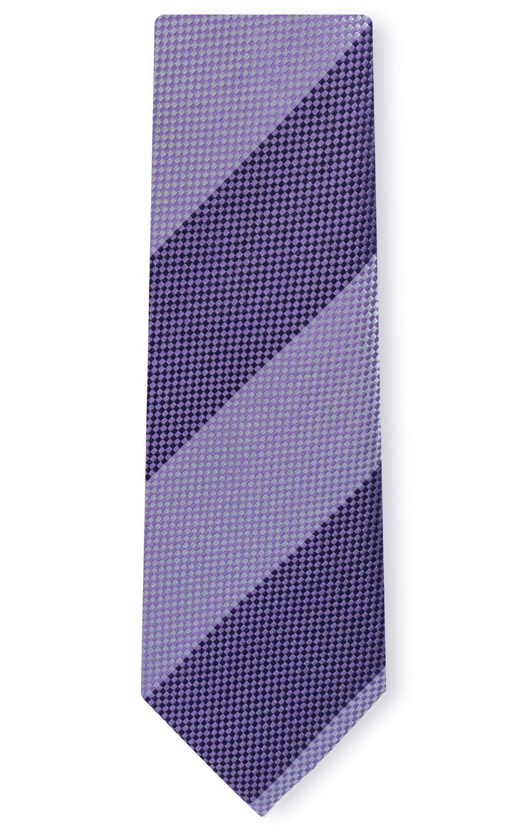 LOGAN PURPLE STRIPE TIE