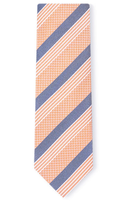ISAAC ORANGE STRIPE TIE