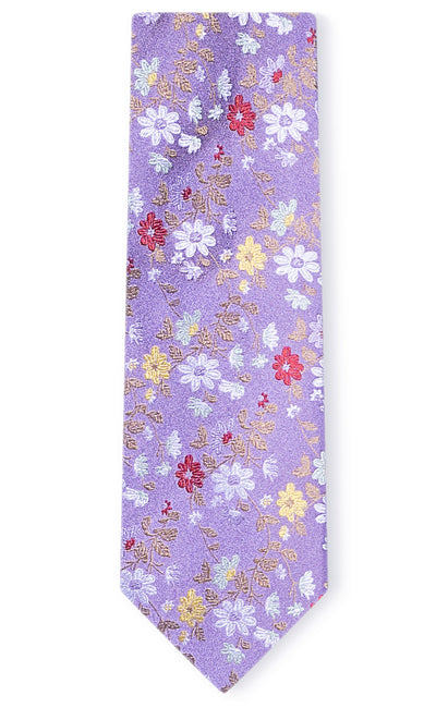 CHRISTOPHER PURPLE FLORAL TIE