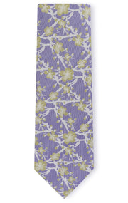 AIDEN PURPLE FLORAL TIE