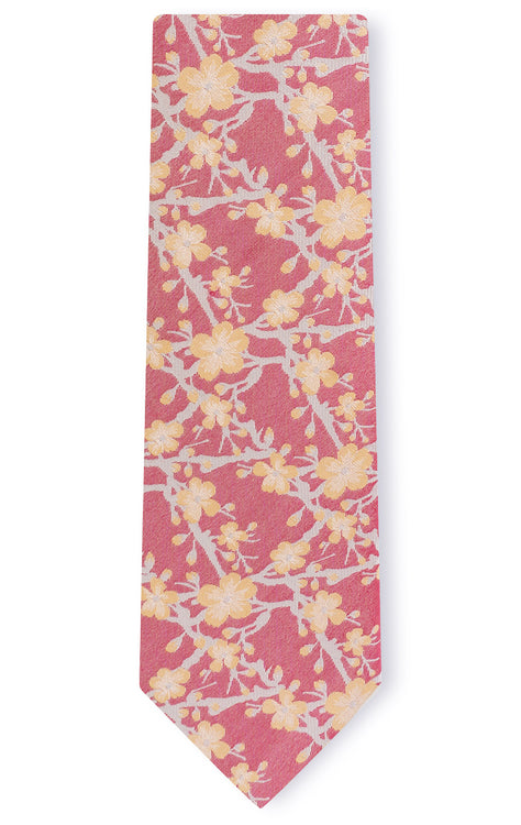 AIDEN RED FLORAL TIE