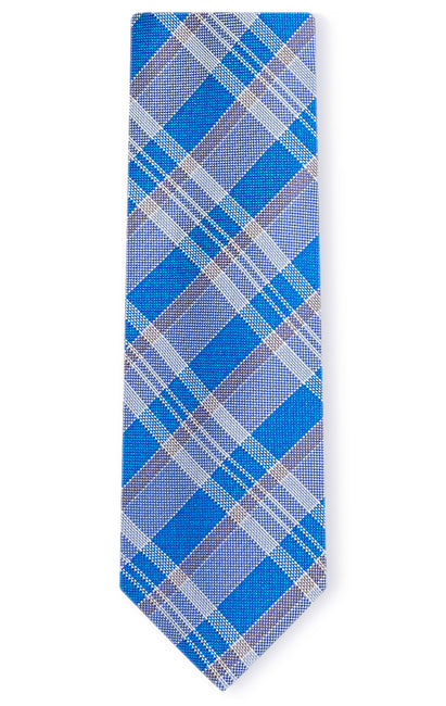 ANDREW BLUE PLAID TIE