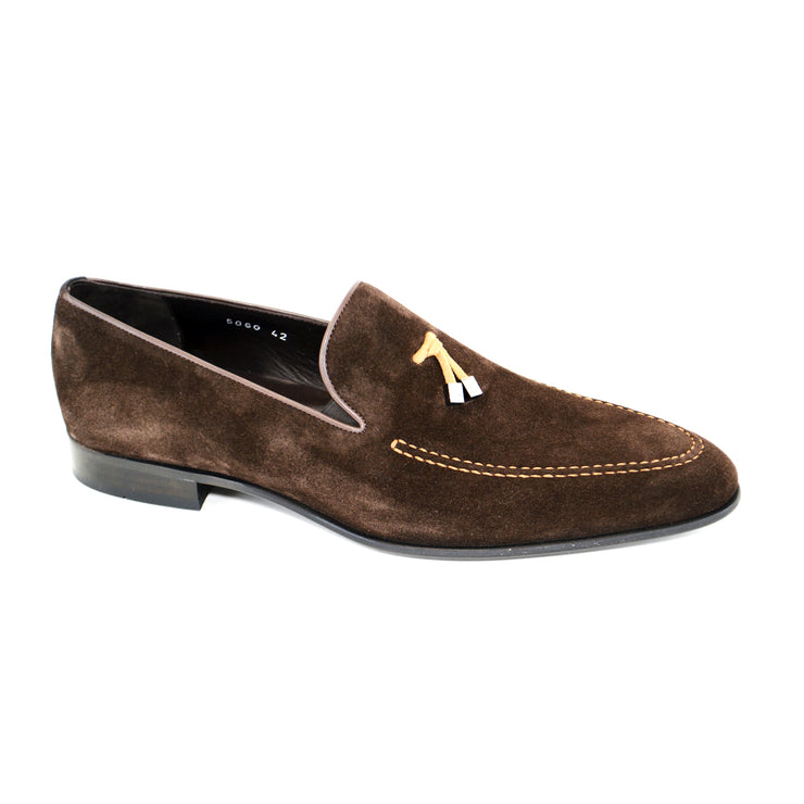BROWN/TAN SOFT SUEDE LOAFER