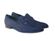 NAVY SOFT SUEDE LOAFER