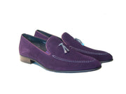 PURPLE SOFT SUEDE LOAFER