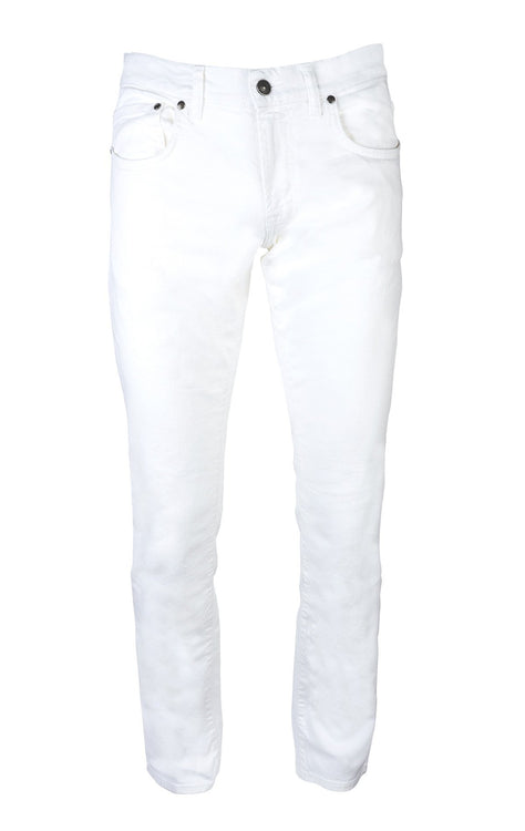 STRETCH WHITE SLIM FIT BULL DENIM