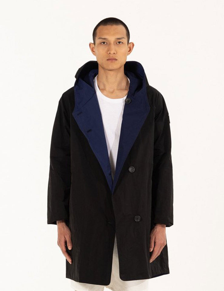 BLACK/NAVY REVERSIBLE RAINCOAT