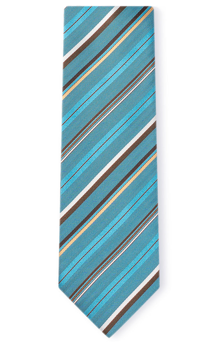BROCK TEAL STRIPE TIE