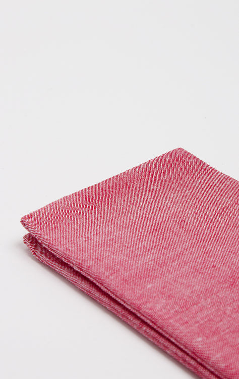 RED TEXTURE POCKET SQUARE