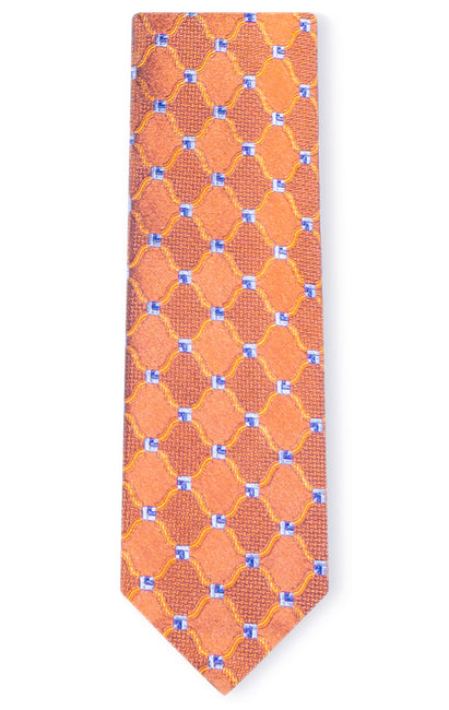 LOGAN ORANGE GEO TIE
