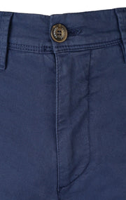 GABARDINE BLUE SLIM FIT STRETCH PANT - 617