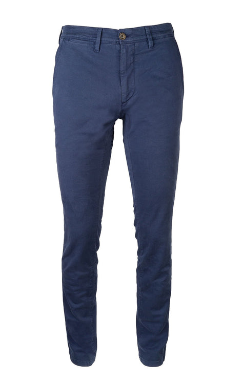 GABARDINE BLUE SLIM FIT STRETCH PANT