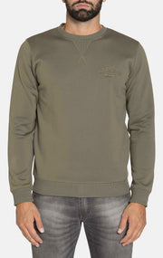CRYSTAL ARMY GREEN SWEATSHIRT