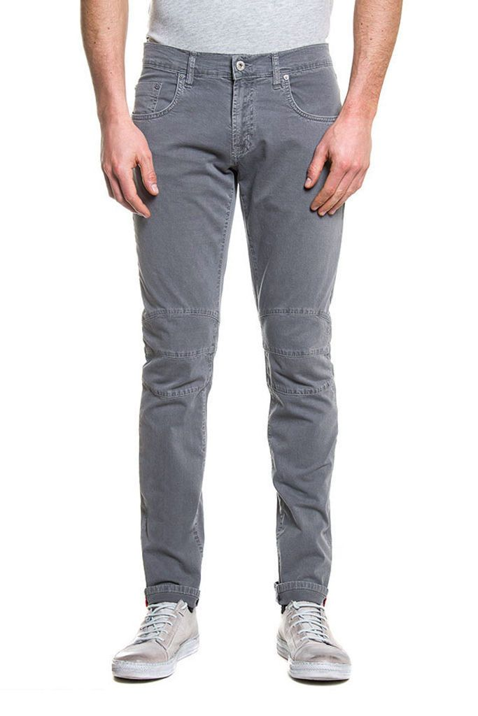 GABARDINE GREY SLIM FIT DENIM - 717