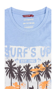 SURFS UP LIGHT BLUE GRAPHIC TEE