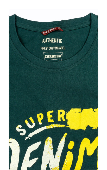 SUPER DENIM GREEN GRAPHIC TEE