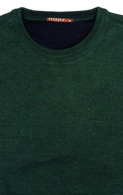 BILL GREEN MELANGE CREW SWEATER