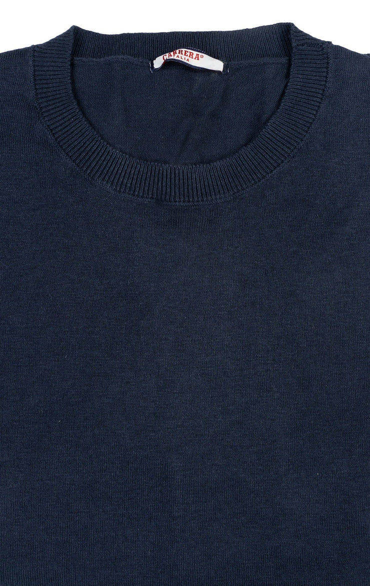 DOBINSKI DARK BLUE CREW SWEATER