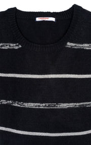 ROSE BLACK STRIPE SWEATER