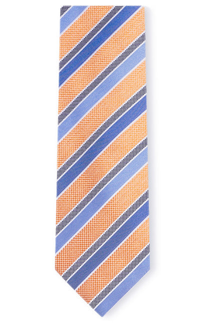 ELI ORANGE STRIPE TIE