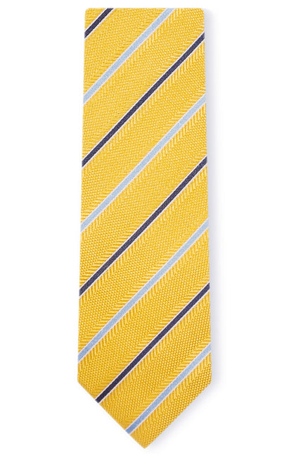 AARON YELLOW STRIPE TIE