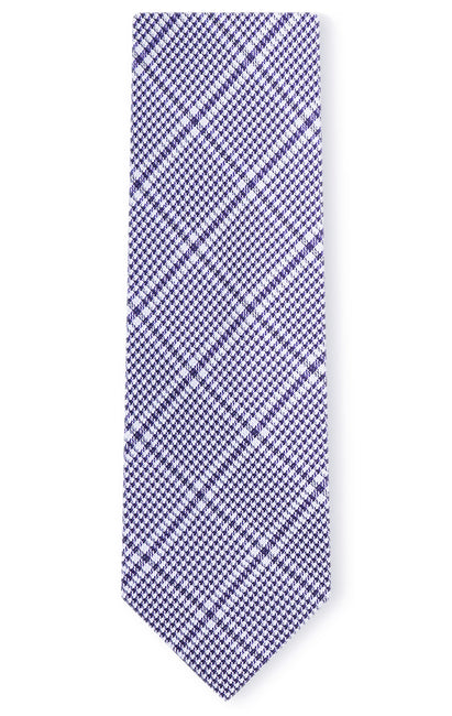 ADRIAN PURPLE PLAID TIE