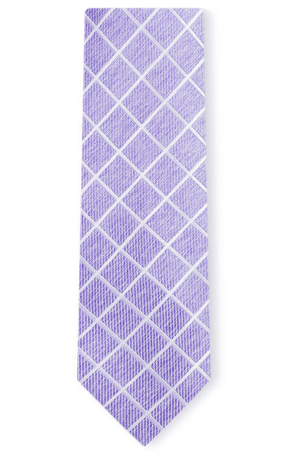 EASTON PURPLE PLAID TIE