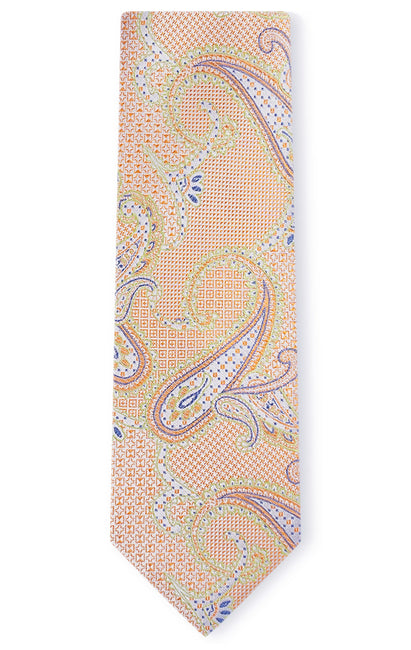 DOMINIC ORANGE PAISLEY TIE