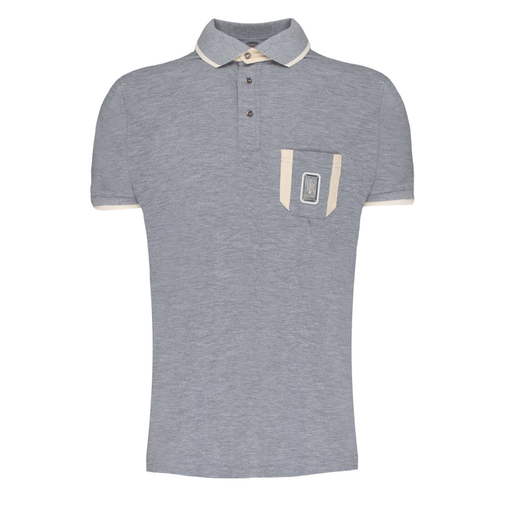 MASERATI GREY POLO WITH POCKET