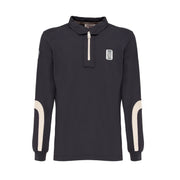 MASERATI ANTRACITE LONG SLEEVE POLO