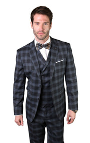 ANDERS CHARCOAL TAILORED FIT 3 PC SUIT