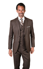 ALONSO BRONZE TAILORED FIT 3 PC SUIT
