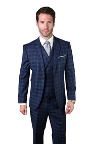AVERY NAVY TAILORED FIT 3 PC SUIT