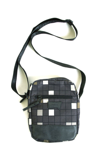 BLACK CHECKERED BAG