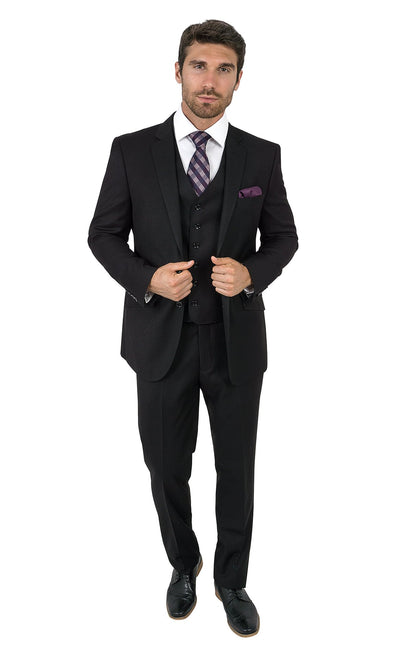 PIETER BLACK TAILORED FIT 3 PC SUIT