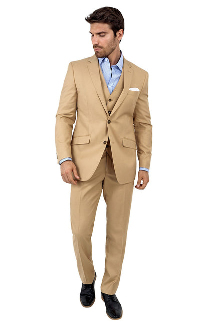 NELSON CHESTNUT TAILORED FIT 3 PC SUIT