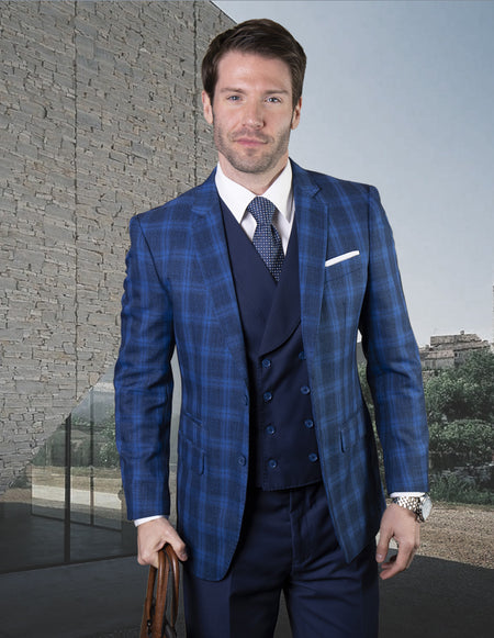 SHANE SAPPHIRE TAILORED FIT 3 PC SUIT